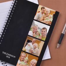 Create Your Own Black Four Collage One Title Notebook