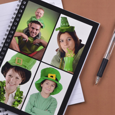 Create Your Own Black Four Collage Notebook