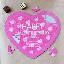 Secret Message Personalizado Heart Shape Puzzle