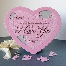 Darling Personalizado Heart Shape Puzzle