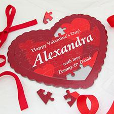 Sweetest Personalizado Heart Shape Puzzle
