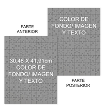Personalizado Custom 2 Sided Background Color & Text Portrait 12X16.5, 285 Or 54 Piece Photo Puzzle