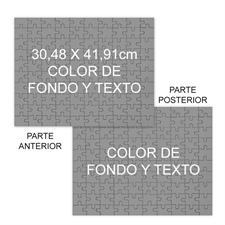 Personalizado Custom 2 Sided Background Color & Text 12X16.5, 285 Or 54 Piece Photo Puzzle