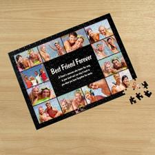 Personalizado Facebook negro 12 colage 30.48 cm x 41.91 cm Photo Puzzle