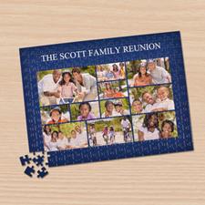 Personalizado Facebook Navy 11 colage 30.48 cm x 41.91 cm Photo Puzzle