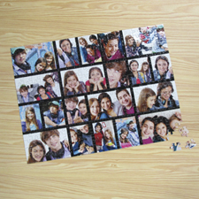 Personalizado Facebook negro 20 colage 30.48 cm x 41.91 cm Photo Puzzle