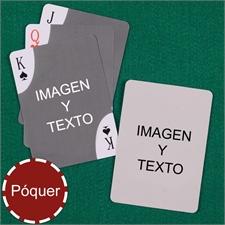 Naipes personalizados tipo póker con esquinas decorativas, personalizados de los 2 lados