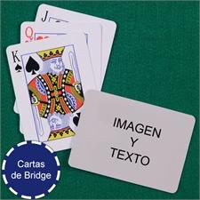 Naipes tamaño Bridge con índice estandar y paisaje