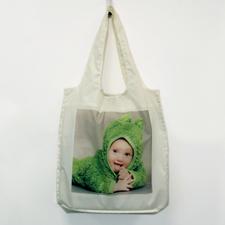 Personalizado Imagen completo cuadrado plegable bolsa de compras