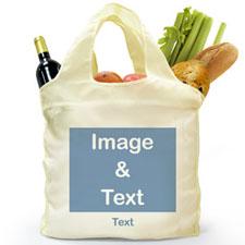 Personalizado doblada bolsa de compras , paisaje imagen