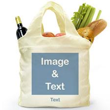 Personalizado doblada bolsa de compras , imagen cuadrada