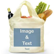 Personalizado doblada bolsa de compras , imagen n de paisaje completo