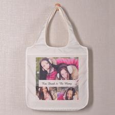 Personalizado 3 colage bolsa de compras , Fotografías instantáneas