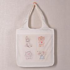 Personalizado 4 colage plegable bolsa de compras , clásico