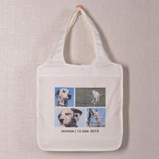 Personalizado 4 colage doblada bolsa de compras , Contemporáneo