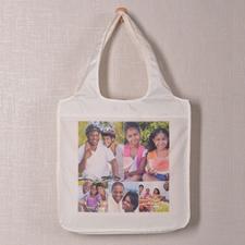 Personalizado 5 colage doblada bolsa de compras , clásico