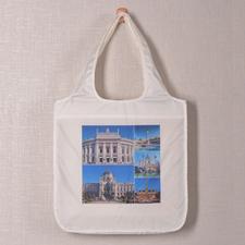 Personalizado 5 colage doblada bolsa de compras , moderno
