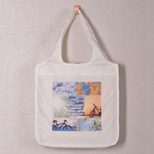 Personalizado 7 colage doblada bolsa de compras , clásico