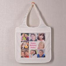 Personalizado 8 colage doblada bolsa de compras , clásico