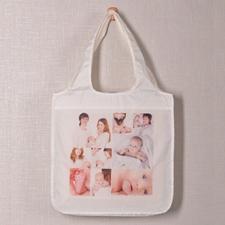 Personalizado 9 colage doblada bolsa de compras , clásico