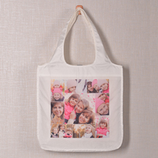 Personalizado 9 colage doblada bolsa de compras , Fotografías instantáneas