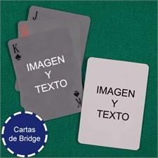 Naipes tamaño Bridge simple personlice los 2 lados