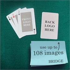 Naipes tamaño Bridge clásico personlice los 2 lados