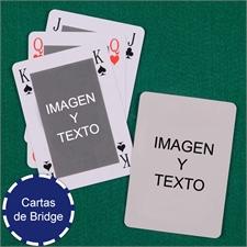 Naipes tamaño Bridge, Estilo Bridge, personalizable en los dos lados
