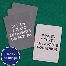 Naipes tamaño Bridge personalizados (Cartas en blanco)