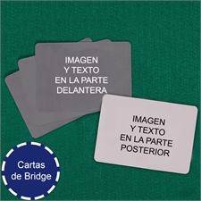 Naipes tamaño Bridge paisaje personalizados (Cartas en blanco)