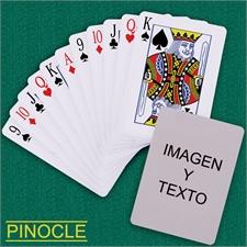 Naipes personalizados tipo póker, estilo Pinocle