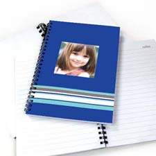 Create Your Own Colorful Stripes Notebook, Blue