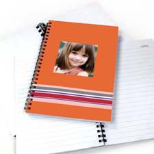 Create Your Own Colorful Stripes Notebook, Orange