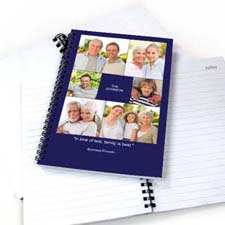 Create Your Own Blue Six Collage Notebook