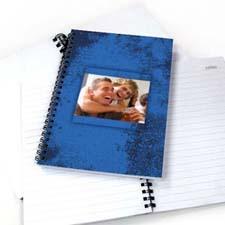 Create Your Own Modern Blue Texture Notebook