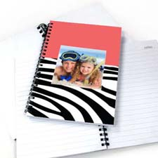 Create Your Own Hot Pink Zebra Pattern Photo Notebook