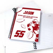 Personalized Football Player Notebook