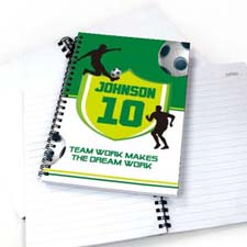 Personalized Soccer Player Notebook