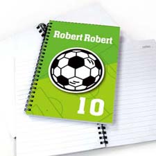 Personalized Athletic Notebook, Soccer