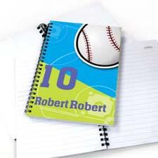 Personalized Athletic Notebook, Baseball