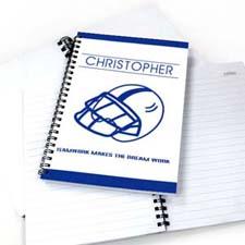Personalized Baseball Notebook