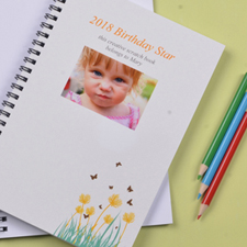 Create Your Own Spring Flowers Photo Notebook