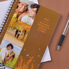 Create Your Own Three Collage Autumn Background Photo Notebook