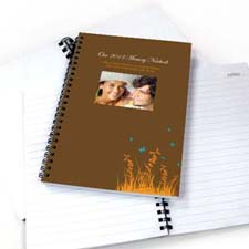 Create Your Own Autumn Background Photo Notebook