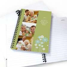 Create Your Own Three Collage Modern Floral Photo Notebook