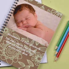 Create Your Own Field Of Flowers Photo Notebook