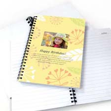 Create Your Own Summer Floral Star Photo Notebook