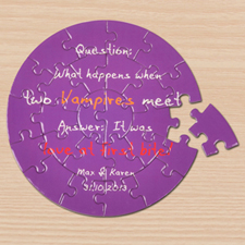 Background Color & Text Small Round Puzzles
