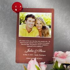Anuncio de boda de chocolate personalizado Foto imanes de nevera