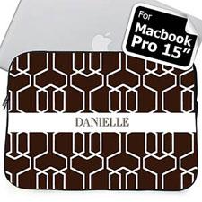 Nombre personalizado Macbook Pro 15 de Chocolate reja (2015)